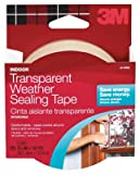 3M 2110 1-1/2-Inch x 30-Ft. Clear Adhesive Weatherproofing Tape
