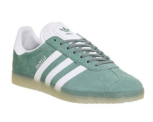 Adidas Originaux Gazelle Mens Formateurs Sneakers Chaussures Acier Blanc Argent Bb5500