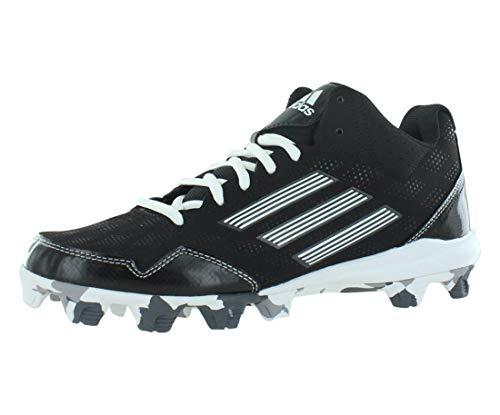 adidas Wheelhouse 2 Mid BSBL Men's Baseball Softball Shoes Size US 8.5, Regular Width, Color Black/White
