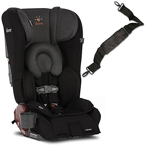 Diono Rainier Convertible Car Seat with Carry Strap – Black Mist