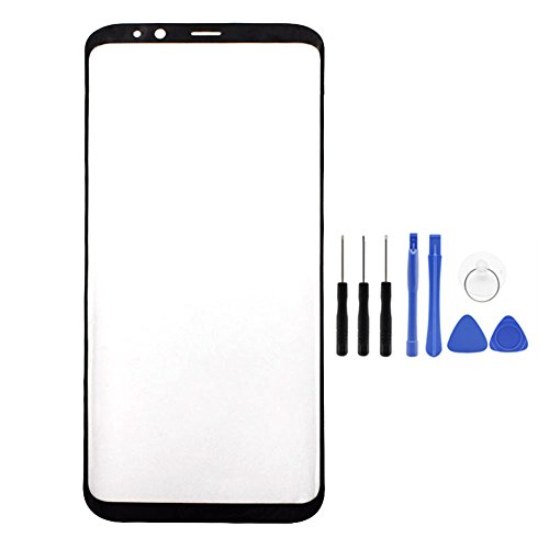 Touch Panel Replacement for Samsung Galaxy S8 G950 G950F Black Front Outer Glass Lens Cover with Tool (Not LCD &Not Digitizer)