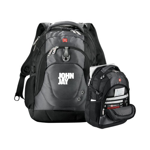 John Jay College Wenger Swiss Army Tech Charcoal Compu Backpack 'Official Logo' by CollegeFanGear