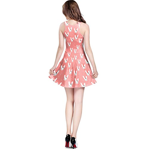 Bunny Bow Peach Sleeveless Dress XS-3XL Kleid