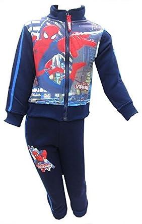 Spiderman Marvel Niños 2 Piezas Azul Chándal tapa y fondo Edad 3 ...