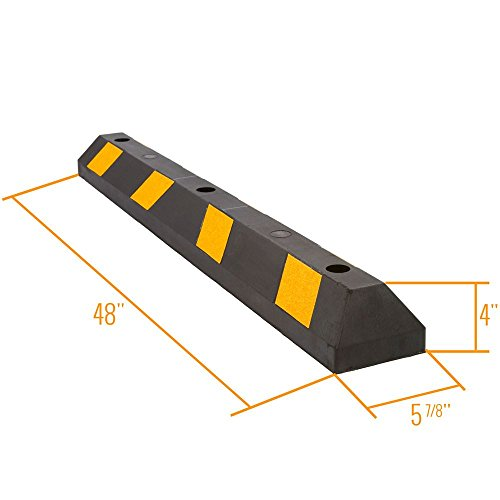 Guardian DH-PB-9 Heavy Duty Rubber Parking Curb-48 Long by Guardian (Image #2)