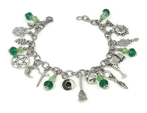 Amazon com: The Witches Charm Bracelet with Stainless Steel