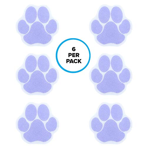 SlipX Solutions Adhesive Paw Print Bath Treads Add Non-Slip Traction to Tubs, Showers, Pools, Boats, Stairs & More (6 Count, Reliable Grip, Purple) from SlipX Solutions