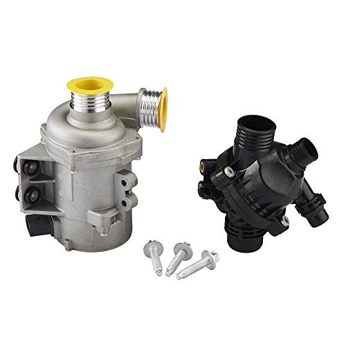 Orion Motor Tech Electric Engine Coolant Water Pump with Thermostat for BMW E90 E91 E92 E93 E60 E61 E83 E84 E85 E89, 1 3 5 Series, X1 X 3 Z4 Models (Electric Pump Coolant)