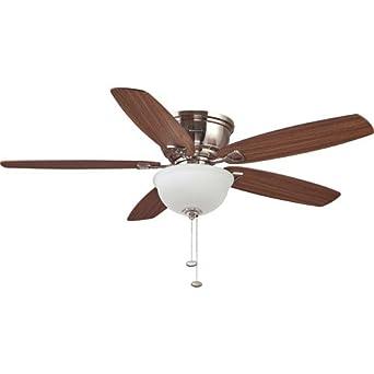 52 honeywell eastover ceiling fan brushed nickel amazon aloadofball Gallery