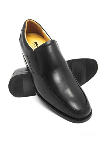 ZERIMAR height Increasing Elevator Shoes For Men Add + 2,5 inches To Your height Quality Leather Leather Shoes Black Size:: EU 39 US 7.5 by Zerimar