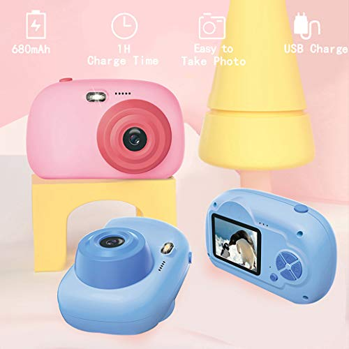 Flurries  Kids Digital Camera - HD 2.0 Inch Screen Mini Child Camcorder - Toy with Soft Anti-Fall Silicone Shell for Outdoor Play Selfie Picture Video Taking - Great Gift for Girls Boys Kids (Blue)