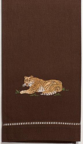 Henry Handwork Tiger Hand Towel, Set of 2