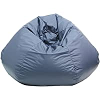 Gold Medal Bean Bags -10Bean Bag Chair Size: Extra Large, Color: Navy Blue