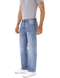 "<span class=""a-offscreen"">[Sponsored]</span>Pants Classic Straight Fit Light Blue Stonewash Denim Ripped Jeans For Men,Boys (8011)"