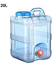 fancyU 15L 20L Recorrido autocontrolado del automóvil con el Grifo de Agua Mineral Barril de Agua Pura Cubo de plástico Contenedor de Almacenamiento de Agua para el hogar con Tapa