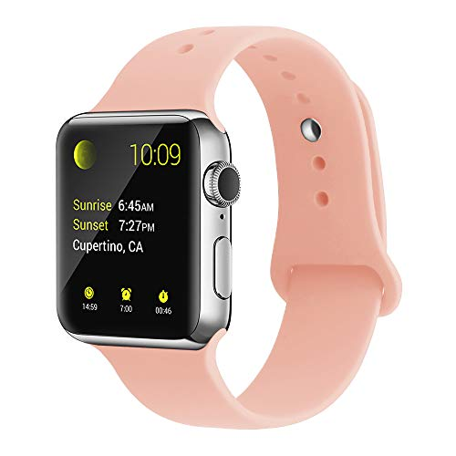 YunTree Compatible with Apple Watch Band 38mm/40mm S/M Size iWatch Sports Band Replacement for Women Man Apple Watch Series 4/3/2/1 Size Comfortable Silicone Strap-Pink