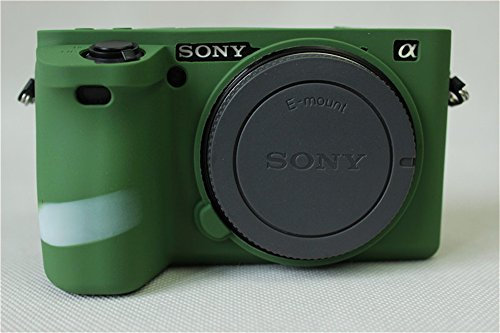 Sony 6500 Case, BolinUS Fullbody Ultra-thin Lightweight Rubber Soft Silicone Case Bag Cover for Sony Alpha A6500 -Green