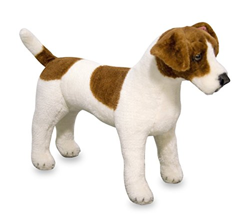 Melissa & Doug 14867 Giant Jack Russell Terrier Lifelike Stuffed Animal Dog, Brown and White, 30 cm ()