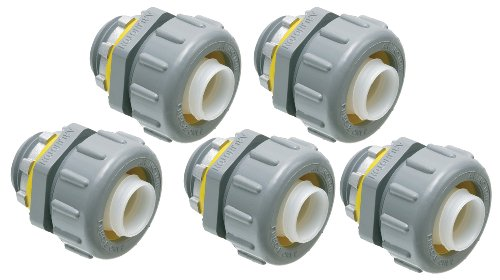 Arlington NMLT50-5 1/2-Inch Non-Metallic Straight Liquid-Tight Connector, 5-Pack