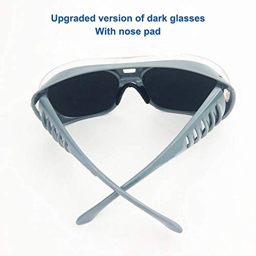 YUANYUAN521 Welding Glasses Anti-Splash Anti-Impact Protective Glasses Anti-UV Safety Goggles Argon Arc Welder Working Eye Protection (Color : Bk with Nose pad) by YUANYUAN521