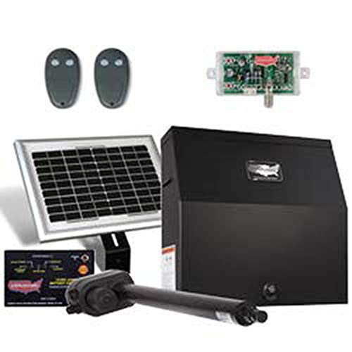USAutomatic Patriot I Solar Charged Single Swing Gate Opener Kit 020035-UL Includes Receiver and Two Remotes & Includes A Free Heavy Duty FAS Tape Measure (Part# FAS-TMPROMO18)