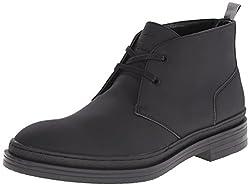CK Jeans Men's Nole Matte Rubber Chukka Boot, Dark Grey, 7.5 M US