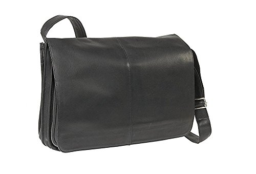 LeDonne Le Donne Leather Quick Access Messenger (Black) by LeDonne
