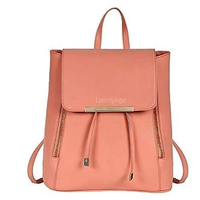 1e2327f71be9 TrendyAge - Designer Stylish Girls School bag College Bag Casual Backpack  Handbag Backpack Peach  Amazon.in  Shoes   Handbags