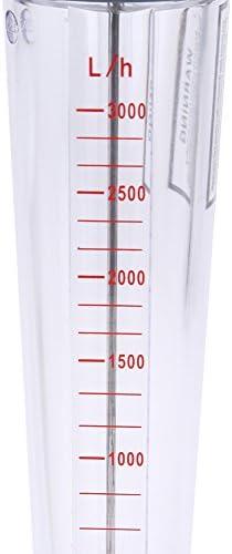 Tubo de pl/ástico Tipo de rot/ámetro LZS-25 Medidor de flujo de agua del flujo 300-3000L Medidor de flujo H medici/ón rot/ámetro