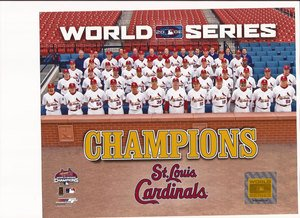 2006 St. Louis Cardinals World Series Champs Unsigned 8x10 - 2006 World Champs Series