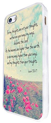 216 - Christian Bible Quote For My Thought Design iphone SE - 2016 Coque Fashion Trend Case Coque Protection Cover plastique et métal - Blanc