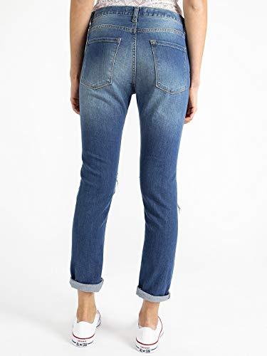 Jeans Fiore Jeans Ricamo Con Strappati Strappati rWZ1xrfO