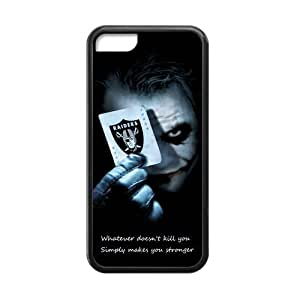 Custom Unique Design Oakland Raiders Iphone 5C Silicone Case
