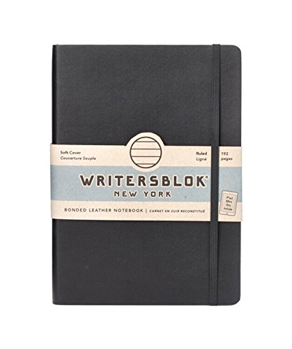 Kikkerland Writersblok Soft Cover Classic Notebook, Ruled, 192 Pages, 8.2