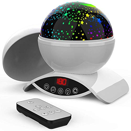 Elecstars Baby Night Light, 360 Degree Rotating Star Projector, Remote Control and Timer Design Projection Lamp, Unique Gifts for Men Women Kids Best Baby Gifts - White (Best Modern Baby Gifts)