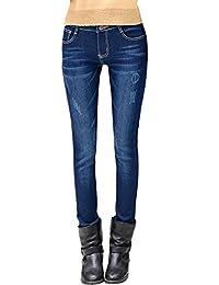 DoreKim Women's Stretch Jeans Fleece Lined Casual Skinny Denim Pants