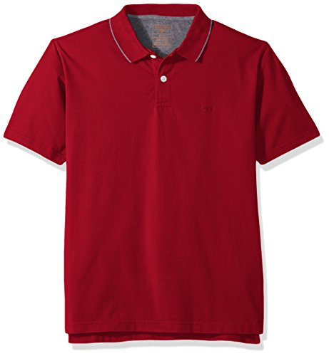 Dockers Men's Short Sleeve Performance Polo, Dark Rio Red, X-Large ()