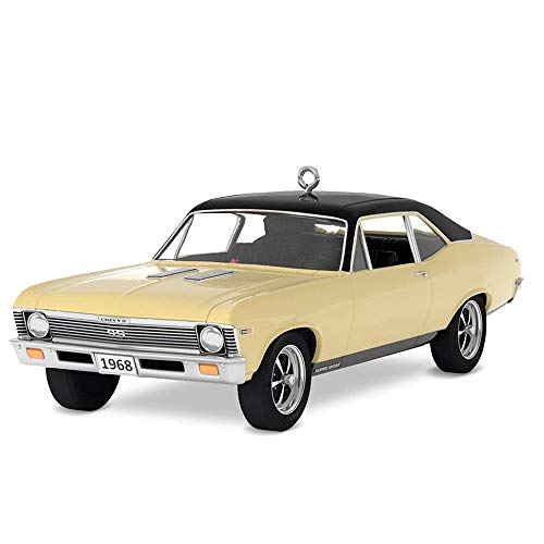 Hallmark Keepsake Christmas Ornament 2018 Year Dated, Classic American Cars 1968 Chevrolet Nova SS, Metal (Hallmark Ornament Collectible)