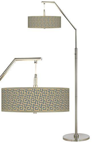 - Greek Key Storm Giclee Shade Arc Floor Lamp