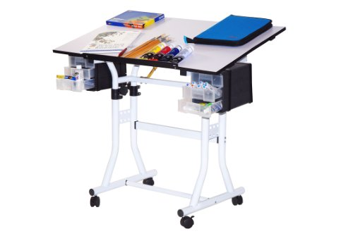 Offex Creation Station Deluxe Hobby Art Craft and Drawing Table by Offex