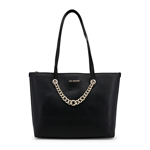 Shopping Bag Love Moschino Black with Gold Chain Jc4261pp05kg0000 Black