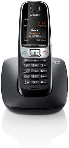 Gigaset C620 - Teléfono fijo digital (DECT, 50 m, 300 m, pared/escritorio, 250 entradas), negro (importado): Amazon.es: Electrónica