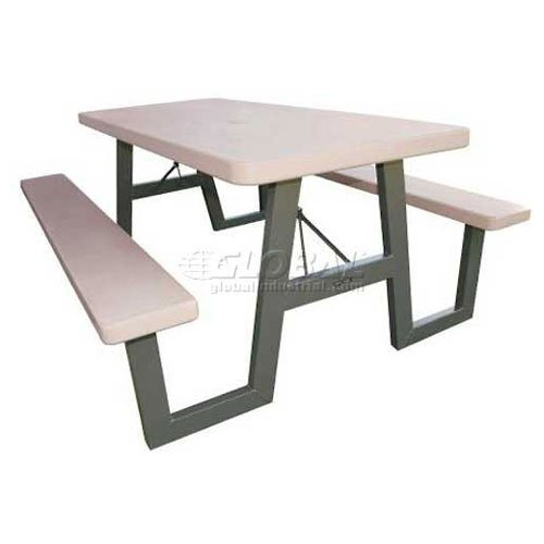 Putty Folding Picnic Tables (W-Frame Folding Picnic Table - Putty)