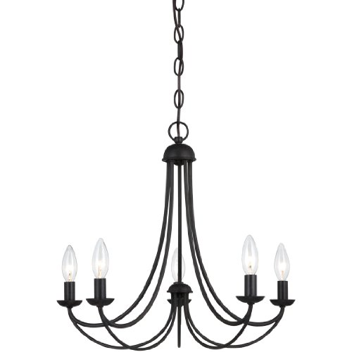 Quoizel MRN5005IB Mirren Farmhouse Chandelier Lighting, 5-Light, 300 Watts, Imperial Bronze 18 H x 21 W