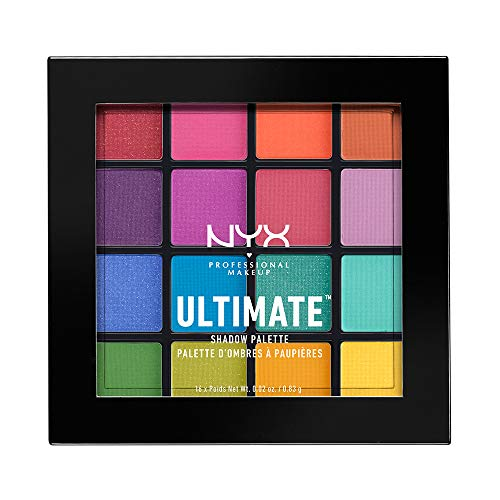 NYX PROFESSIONAL MAKEUP Ultimate Shadow Palette, Eyeshadow Palette, Brights (1 Count) -