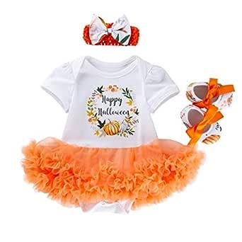 Yinshao Vestido de Calabaza de Halloween de 3 a 18 Meses, Ropa ...