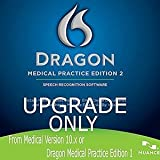 Software : Nuance DMPE-2-U Dragon Medical Practice Edition 2, Upgrade from Medical 10.x or DMPE 1.x - License Upgrade - Retail Box