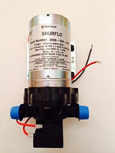 Shurflo 2088-554-144 Fresh Water Pump, 12 Volts, 3.5 Gallons Per Minute, 45 - Shurflo Marine