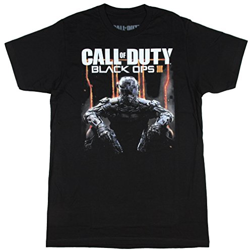Call of Duty Black Ops 3 Character Logo Adult T-Shirt X-Large