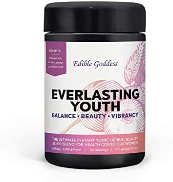 Everlasting Youth, Ultimate Instant Tonic Herbal Beauty & Vitality Elixir Blend for Health Conscious Women, 60 servings, 300g (10.5oz)
